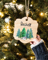 Christmas Ornaments for Kids, Personalized Wood Christmas Ornament, Woodland Ornaments, First Christmas Baby