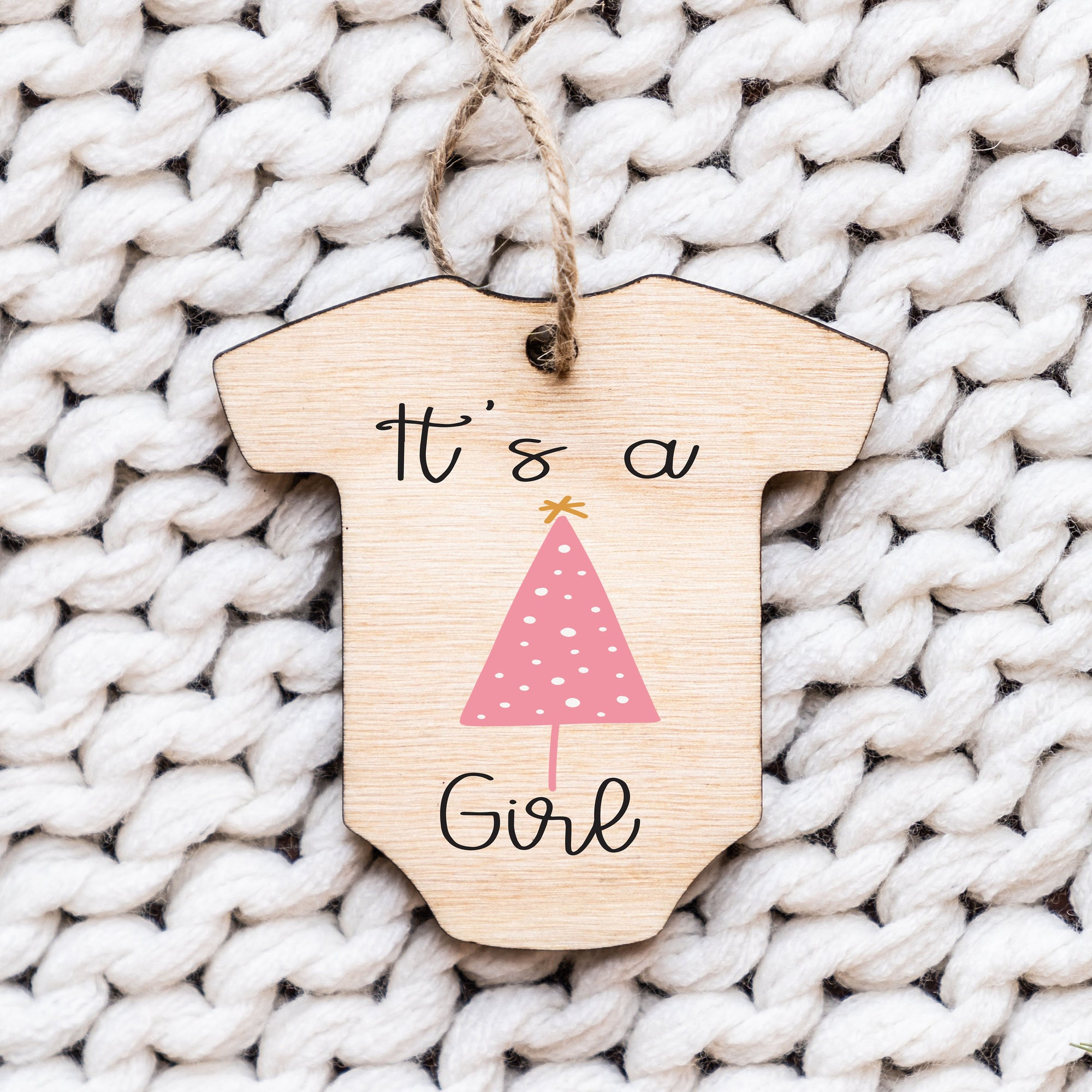 Baby Announcement Ornament, Wood Christmas Ornaments, It's a Girl Ornament, It's a Boy Ornament