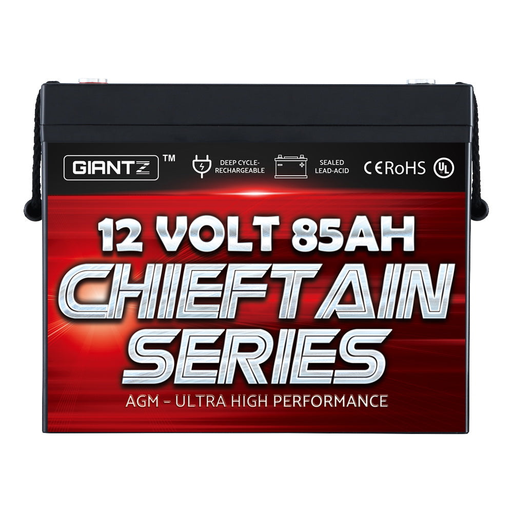 GIANTZ 85Ah Deep Cycle Battery 12V AGM Marine Sealed Power Portable Box Solar