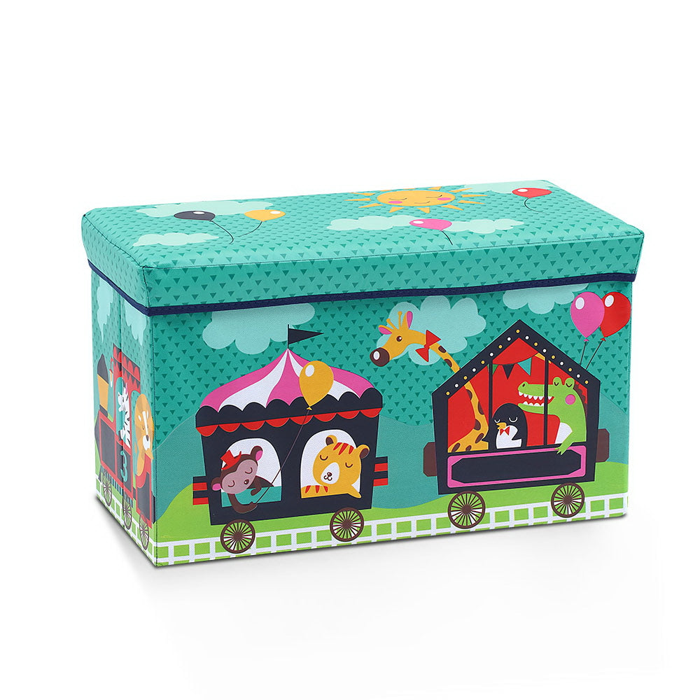 Kids Foldable Storage Toy Box - Green