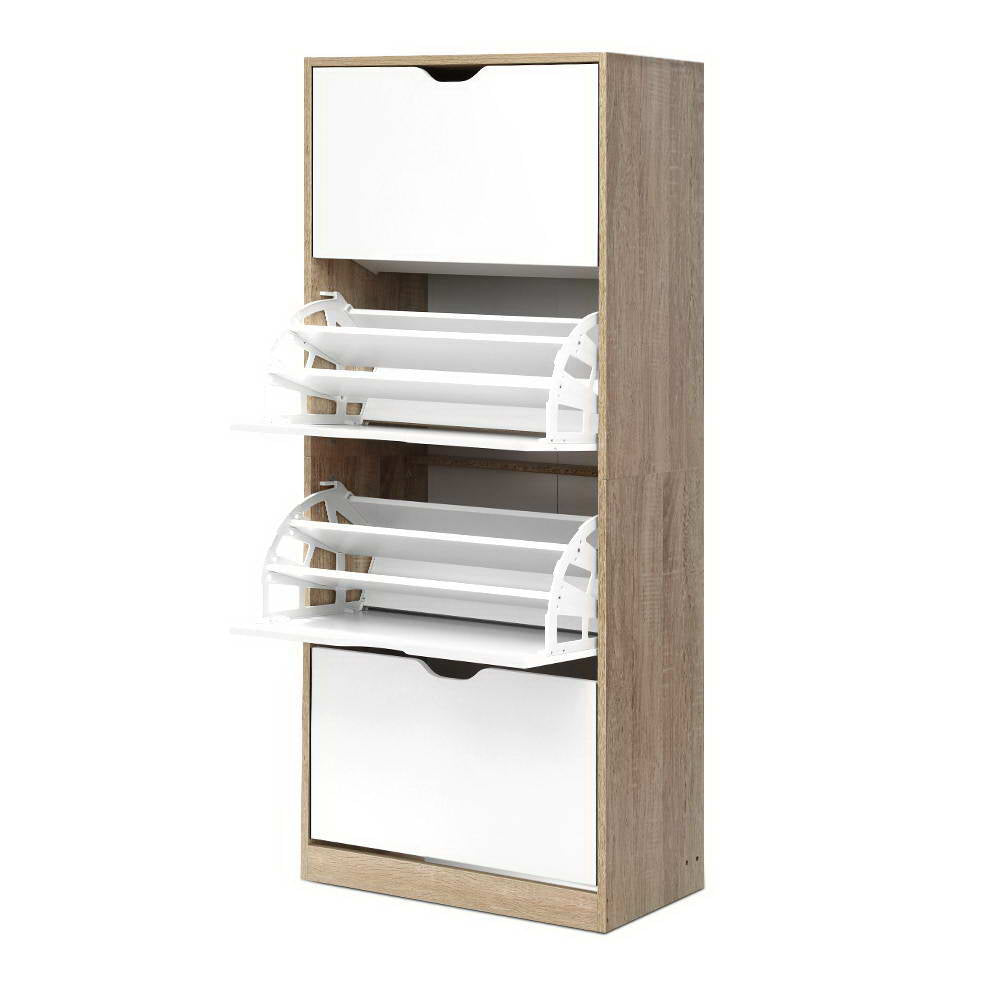 Artiss 48 Pairs Shoe Cabinet Rack Organiser Storage Shelf Wooden