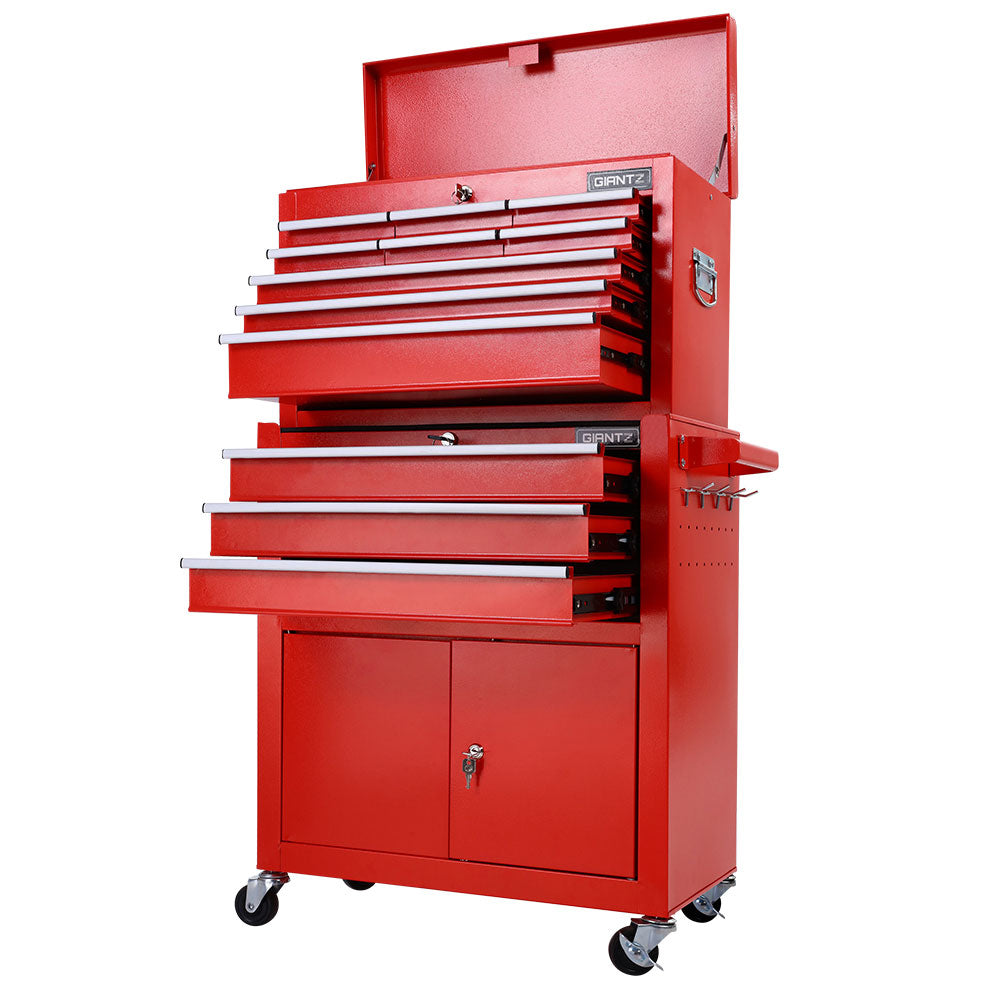 Giantz Tool Box Chest Cabinet Trolley Cart Garage Mechanic Toolbox Storage Red
