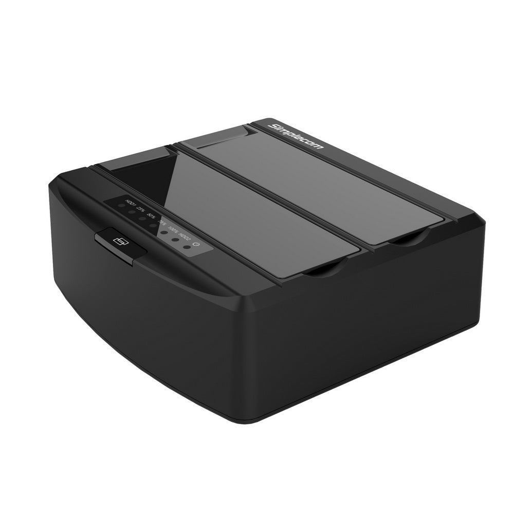 "Simplecom SD312 Dual Bay USB 3.0 Docking Station for 2.5 and 3.5"" SATA Drive Black"""