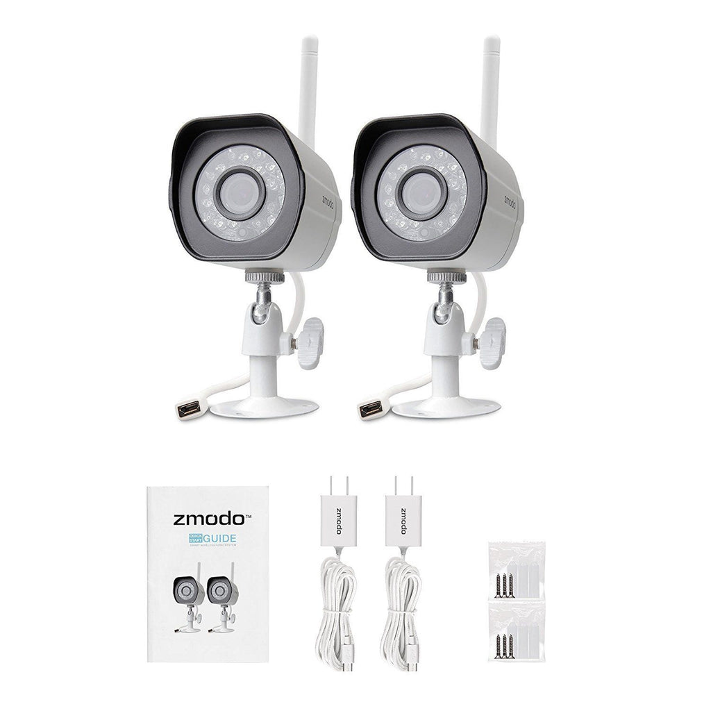 Zmodo 1280x720p Wireless IP Network Outdoor Home Security Camera Night Vision (2 Pack)