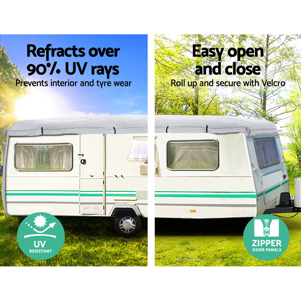 Weisshorn 14-16ft Caravan Cover Campervan 4 Layer UV Waterproof
