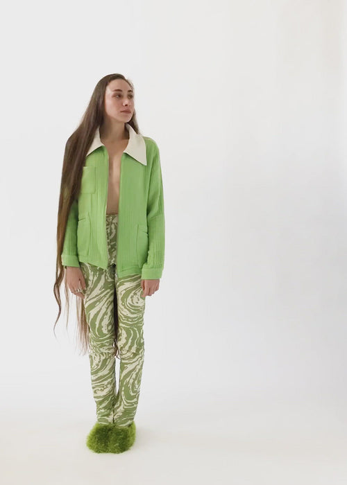100% Organic Cotton Sustainable Vatka Lokum Pants Green