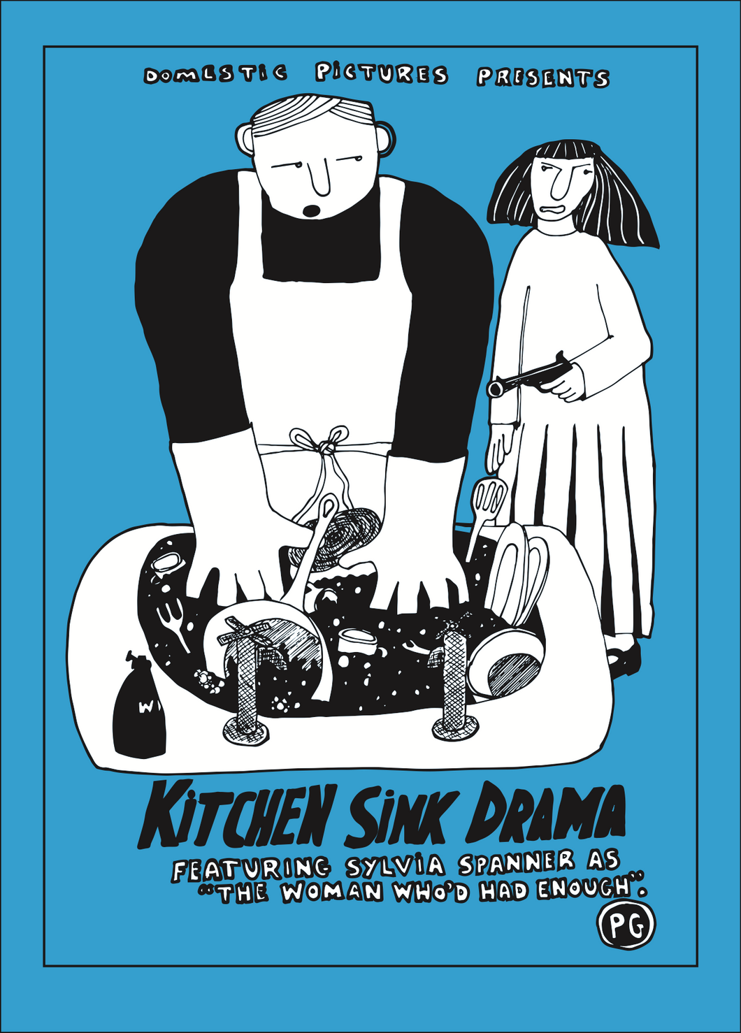 Kitchen Sink Drama greeting card
