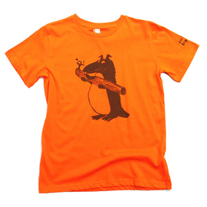 beaver t-shirt for kids, unusual and witty design.