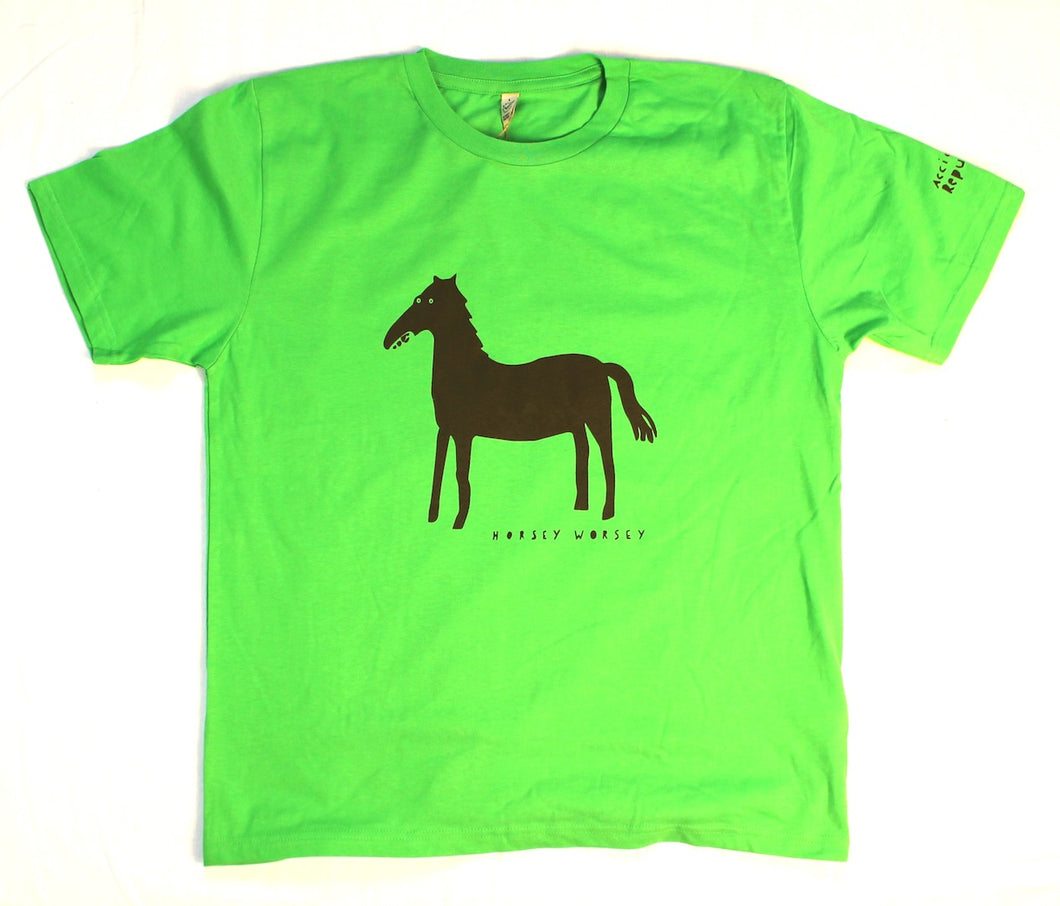 unusual and witty horse t-shirt, unique and cool t-shirt, eco-friendly printing