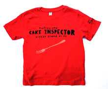 Load image into Gallery viewer, Cake eater t-shirt for kids in red, cool and funny