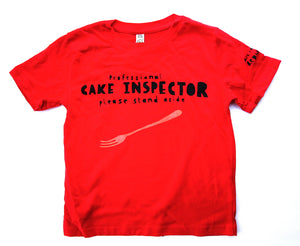 Cake eater t-shirt for kids in red, cool and funny