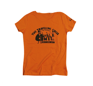 Travelling circus cool and original t-shirt for women