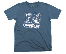 Load image into Gallery viewer, i got blues t-shirt, unusual and witty shirt for men in blue
