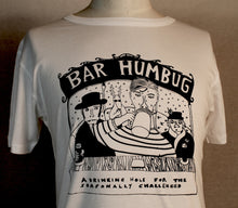 Load image into Gallery viewer, Bar humbug original design Christmas t-shirt, unusual and witty t-shirt