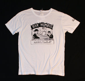 Bar humbug original design Christmas t-shirt, unusual and witty t-shirt