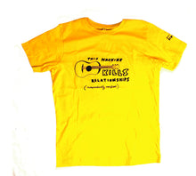 Load image into Gallery viewer, this machine kills unusual and witty t-shirt in yellow