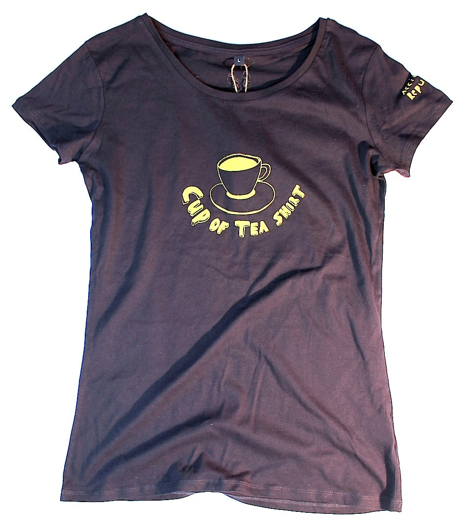 cup of tea shirt, unusual and witty t-shirt, original design