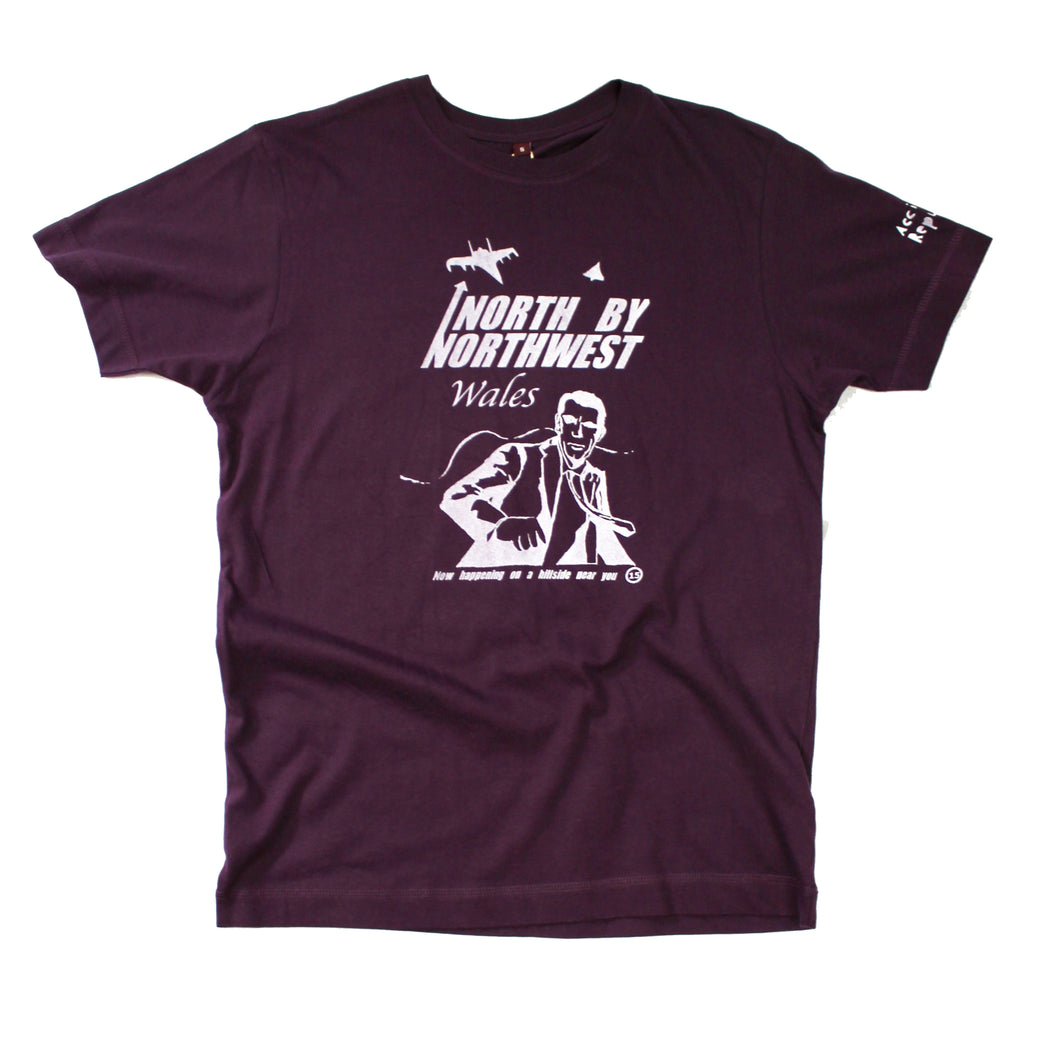 unusual and witty t-shirt, unique and cool t-shirt, eco-friendly printing North by northwest