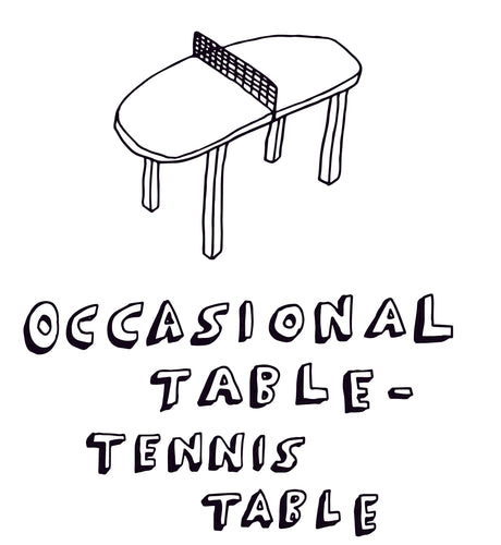 Occasional Table-Tennis Table greetings card