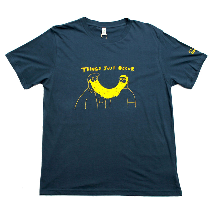 Things just occur cool and original t-shirt. Unusual and witty t-shirt in blue