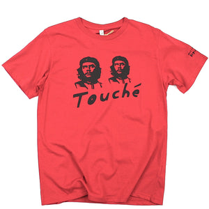 Double Che Guevara t-shirt, unusual and witty design, original in red