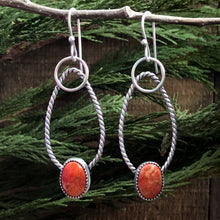 Load image into Gallery viewer, Orange Coral Earrings