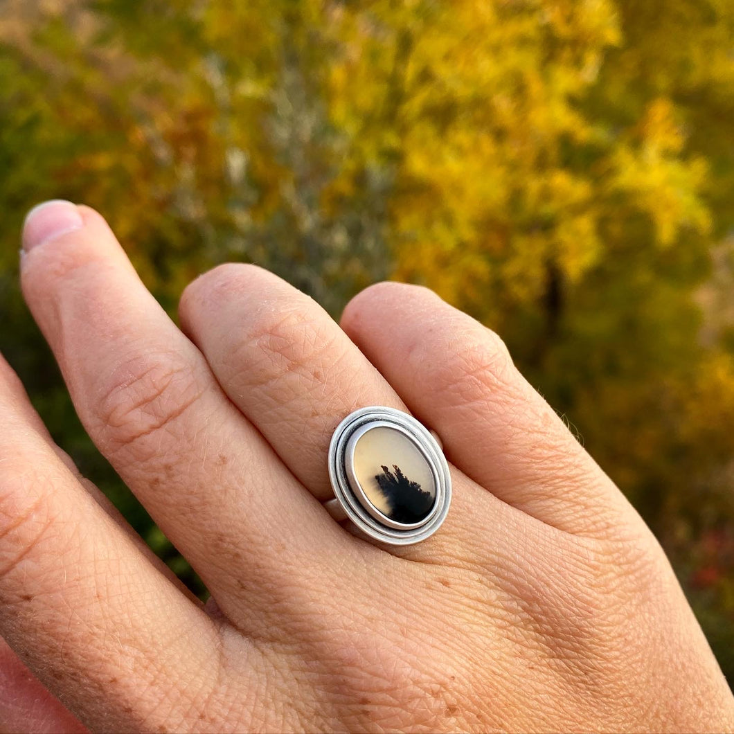 """Yellowstone"" Montana Agate Ring"