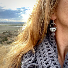 Load image into Gallery viewer, White Buffalo Fringe Earrings