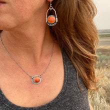 Load image into Gallery viewer, Orange Coral Necklace