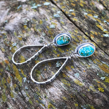 Load image into Gallery viewer, Turquoise Teardrop Studs