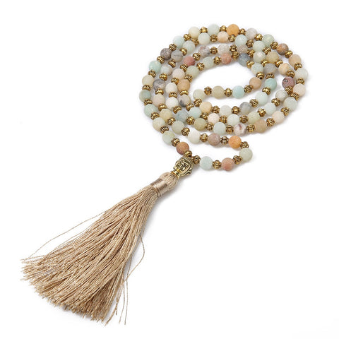 SHORE BUDDHA MALA NECKLACE