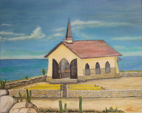 Aruba Church Giclee Canvas Print