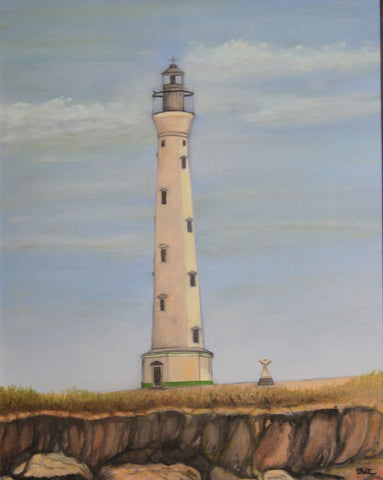 Aruba Lighthouse Giclee Canvas Print