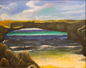 Aruba Natural Bridge Giclee Canvas Print