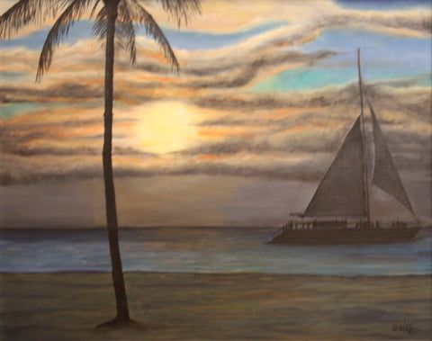 Aruba Night Cruise Giclee Canvas Print
