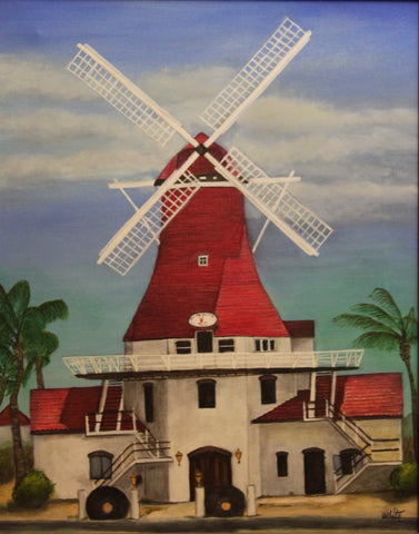 Aruba Windmill Giclee Canvas Print
