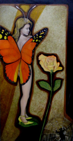 Orange Butterfly Girl