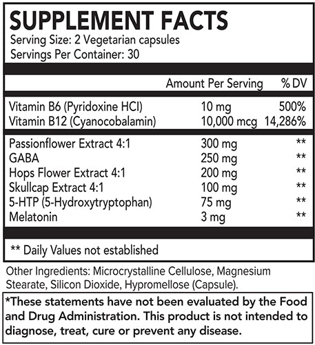 SLEEP VIBEZZZ Nutritional Facts