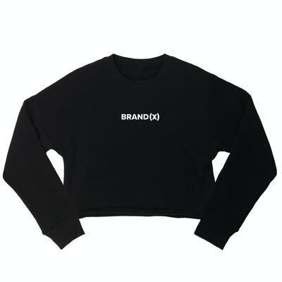 WOMENS BRAND X CROP CREWNECK - BLACK