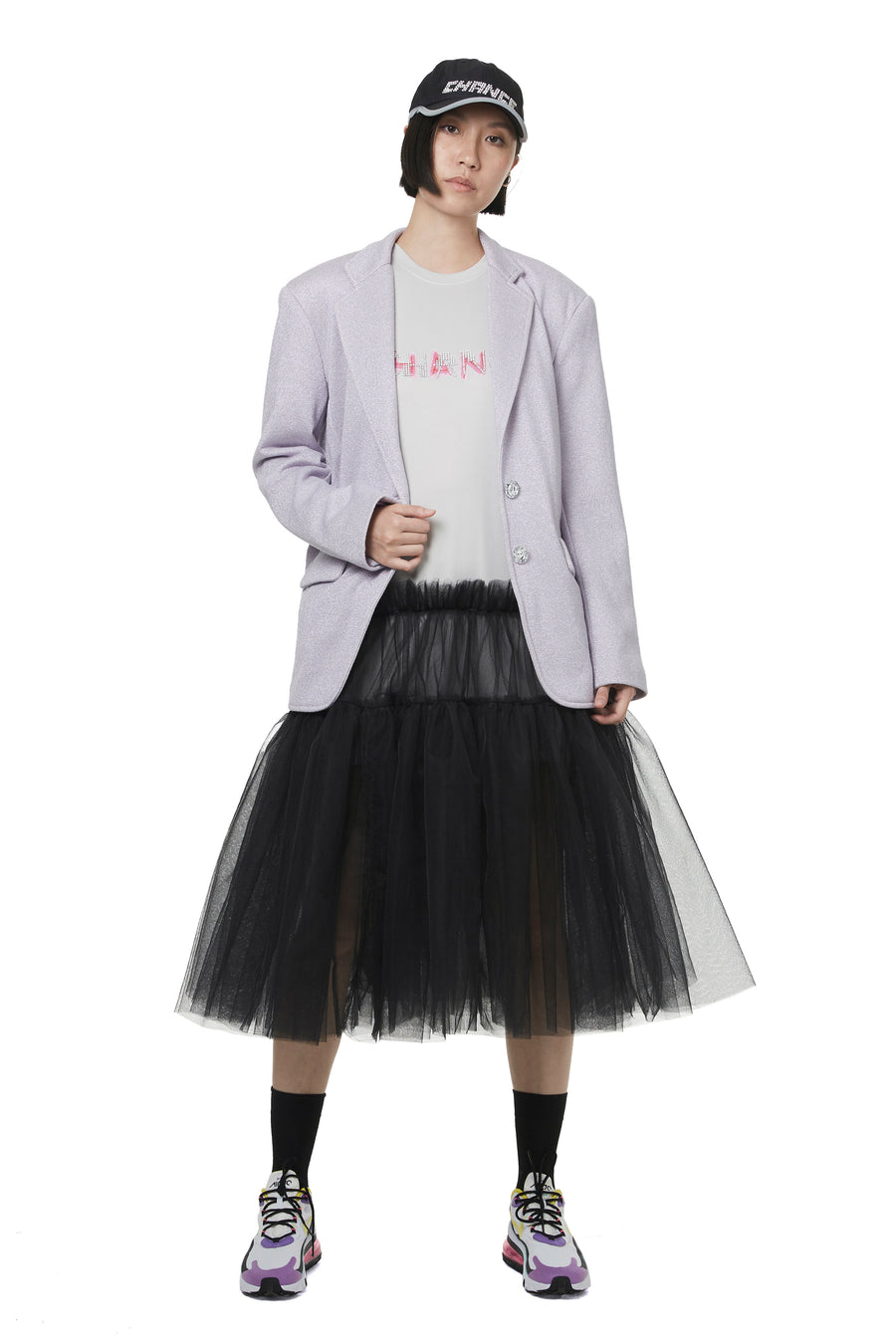 Grey CHANCE Dry Tulle Tunic