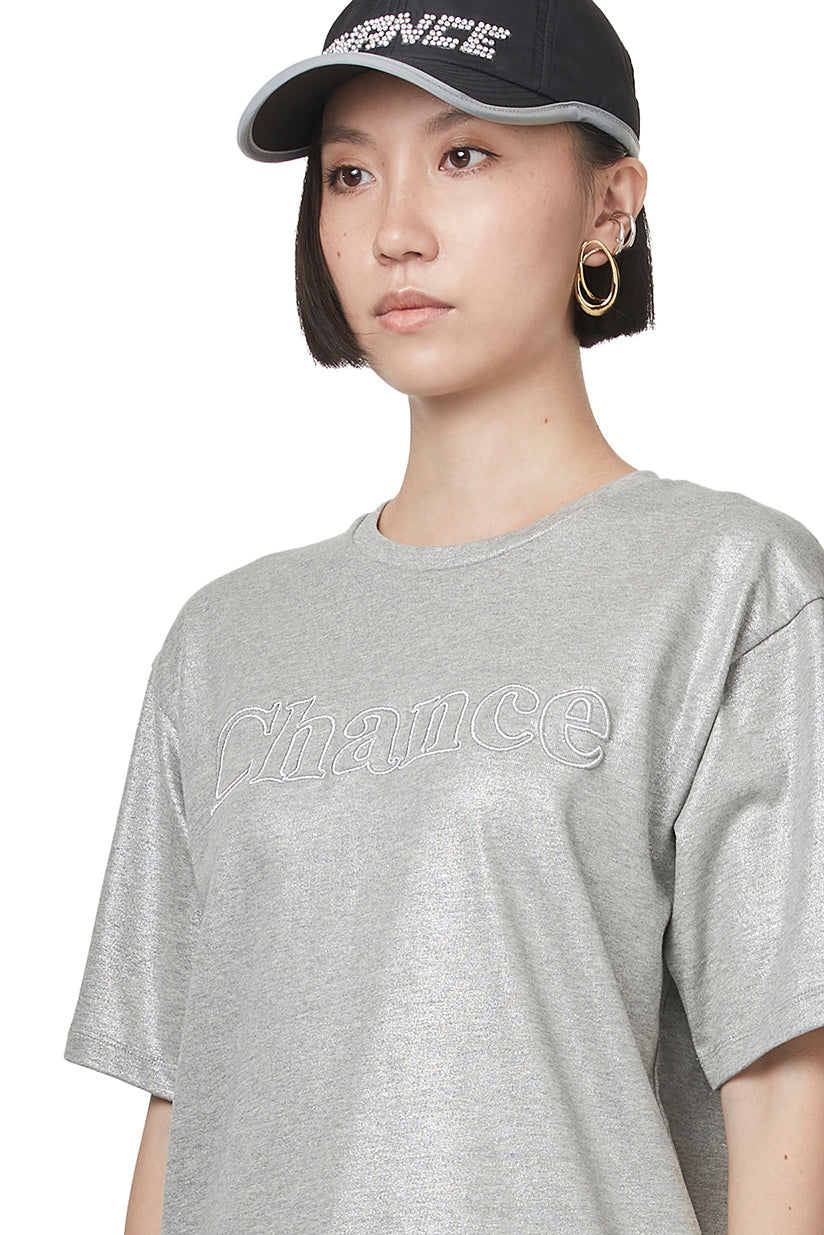 Metallic Embroidery T-shirt