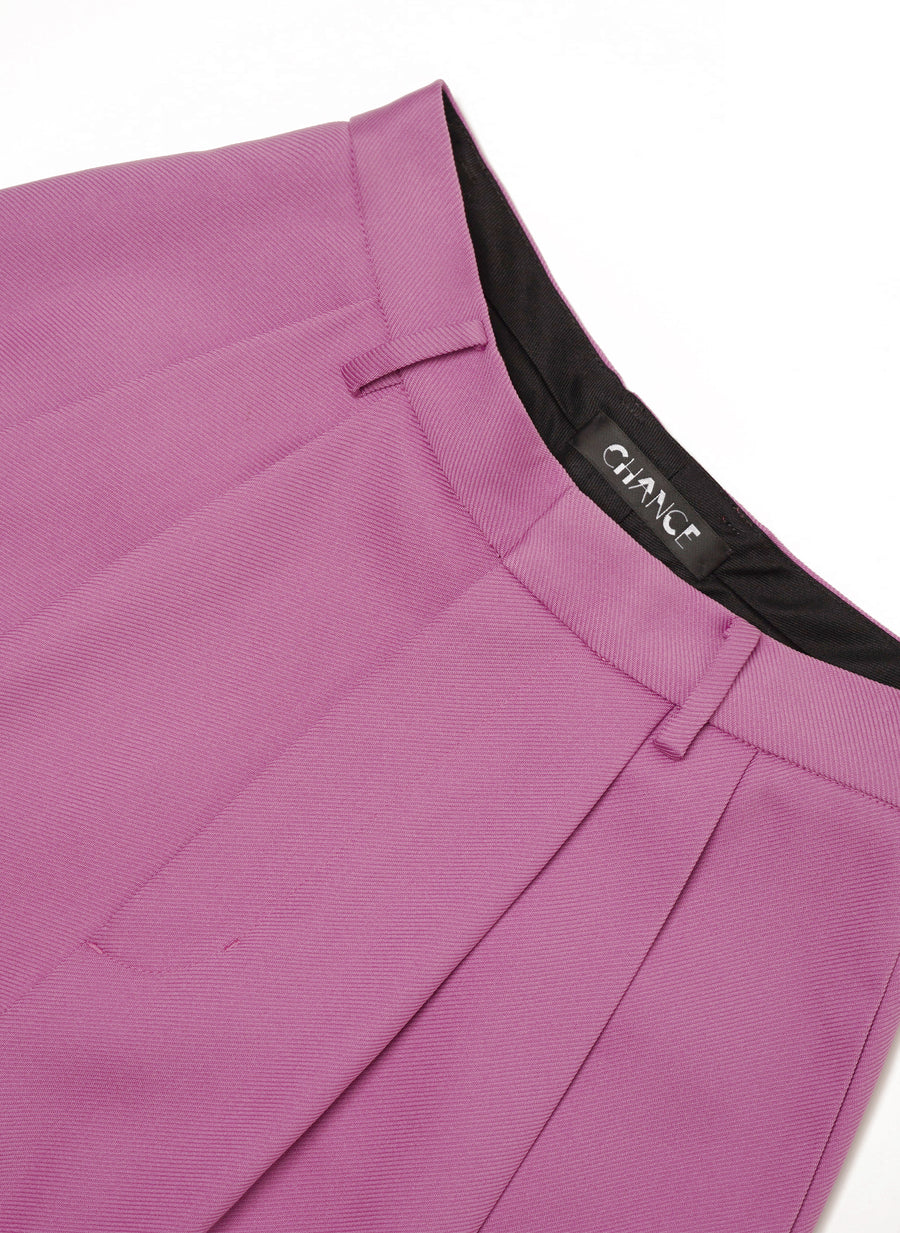 Purple Wide-Leg Trousers