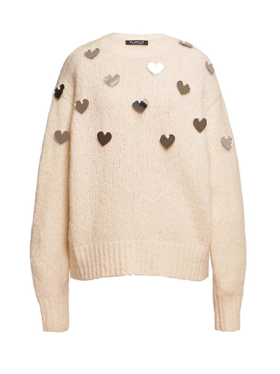 Mirror Embellished Cashmere Sweater