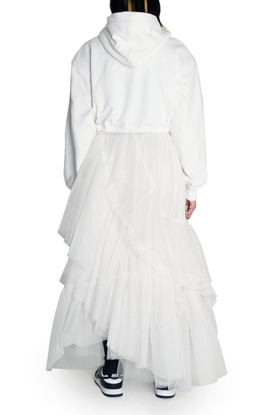 White Haute Couture Birthday Sweatdress