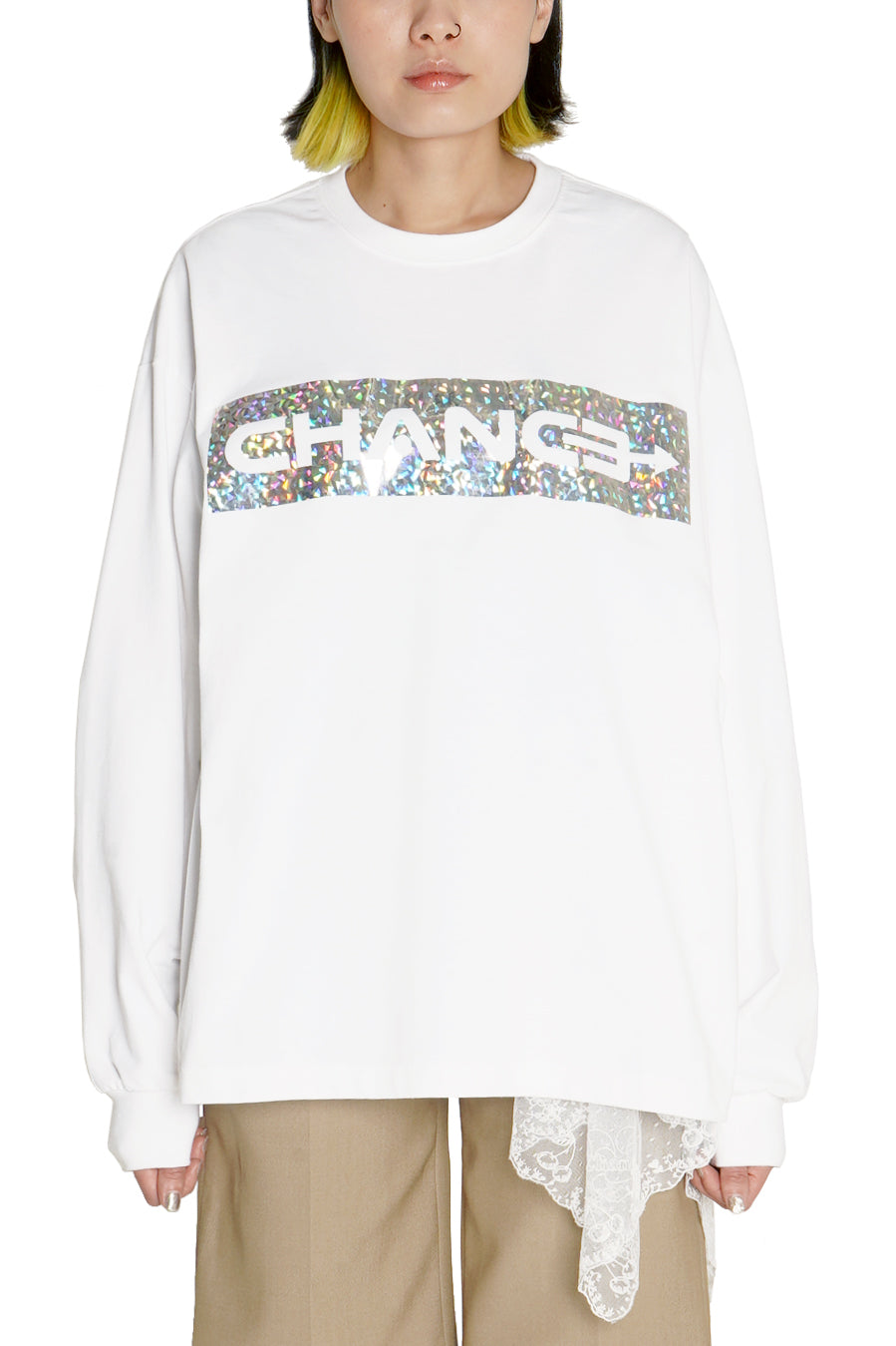 White Sparkling Long Sleeve T-shirt