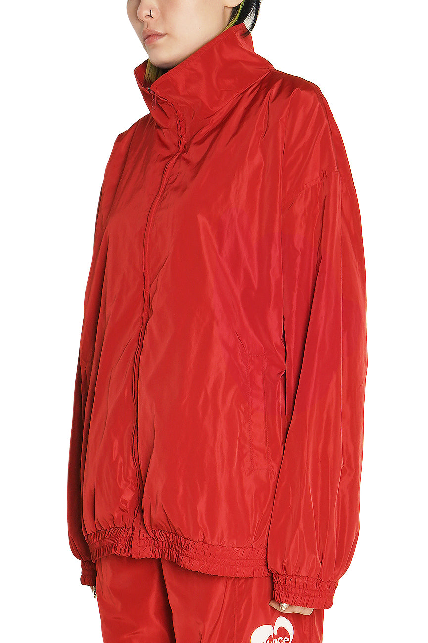 Red Heart Logo Windbreaker Jacket