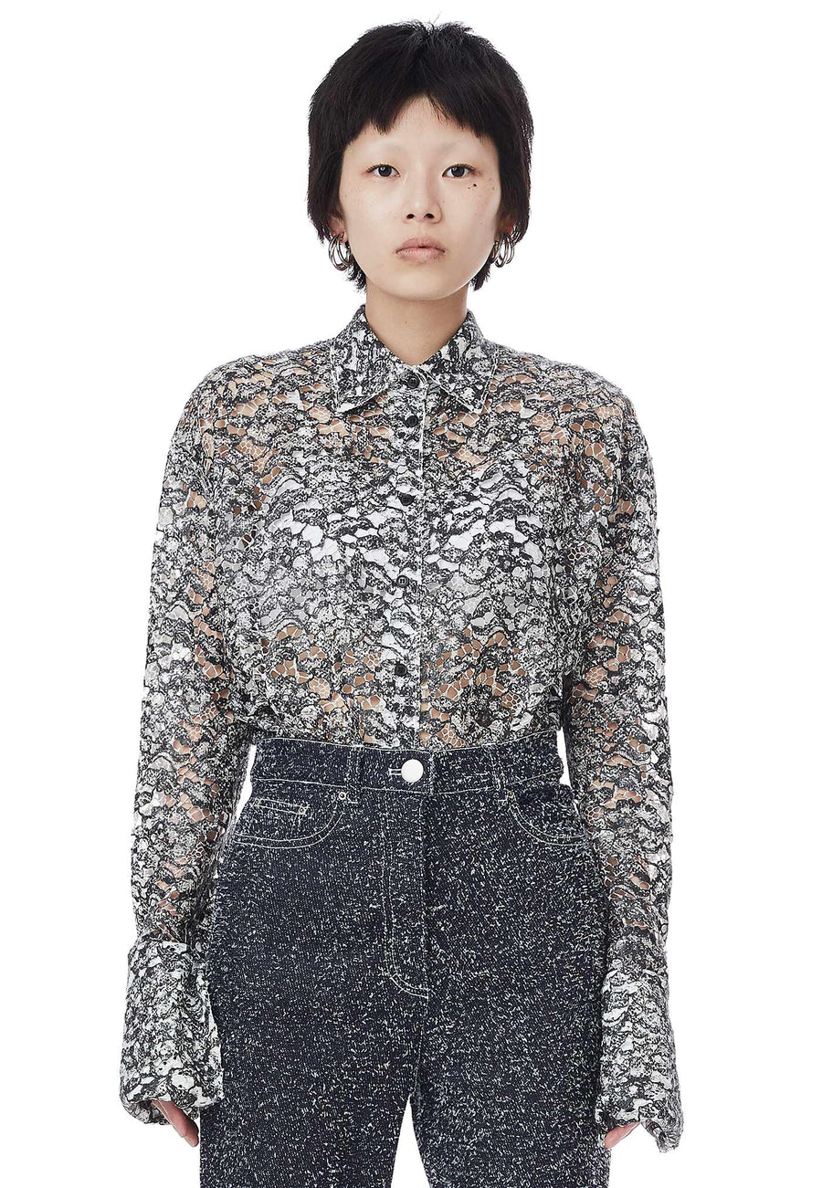 Coated Lace Shirt