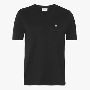 T-Shirt med V Neck