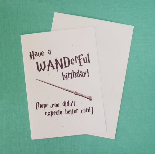 Wanderful Birthday Card
