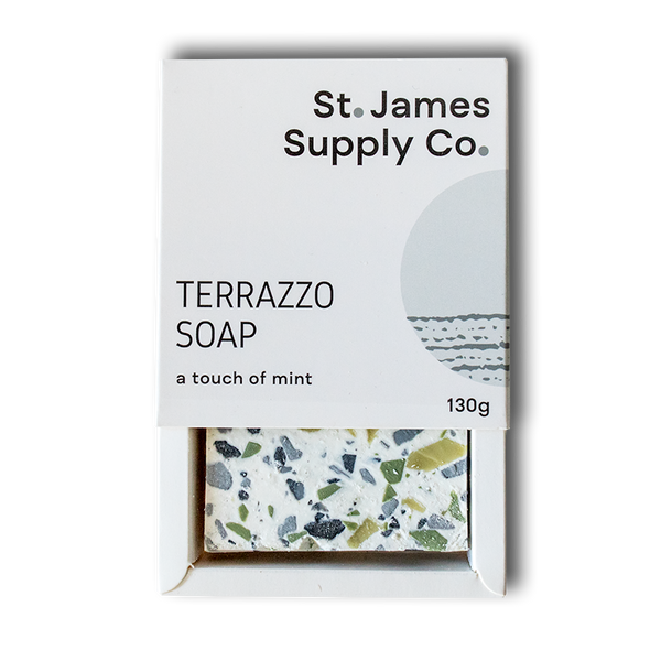 Terrazzo Soap Bar - White and green